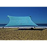 Neso Tents Gigante Beach Tent, 8ft Tall, 11 x 11ft, Biggest Portable Beach Shade, UPF 50+ Sun Protection, Reinforced Corners