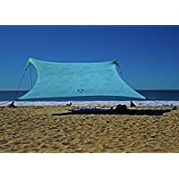 Neso Tents Gigante Beach Tent, 8ft Tall, 11 x 11ft, Biggest Portable Beach Shade, UPF 50+ Sun Protection, Reinforced…
