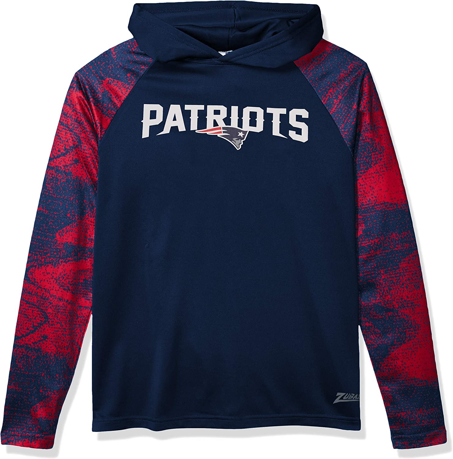 Zubaz Officially Licensed NFL Men's Pullover Hoodie, Team Color