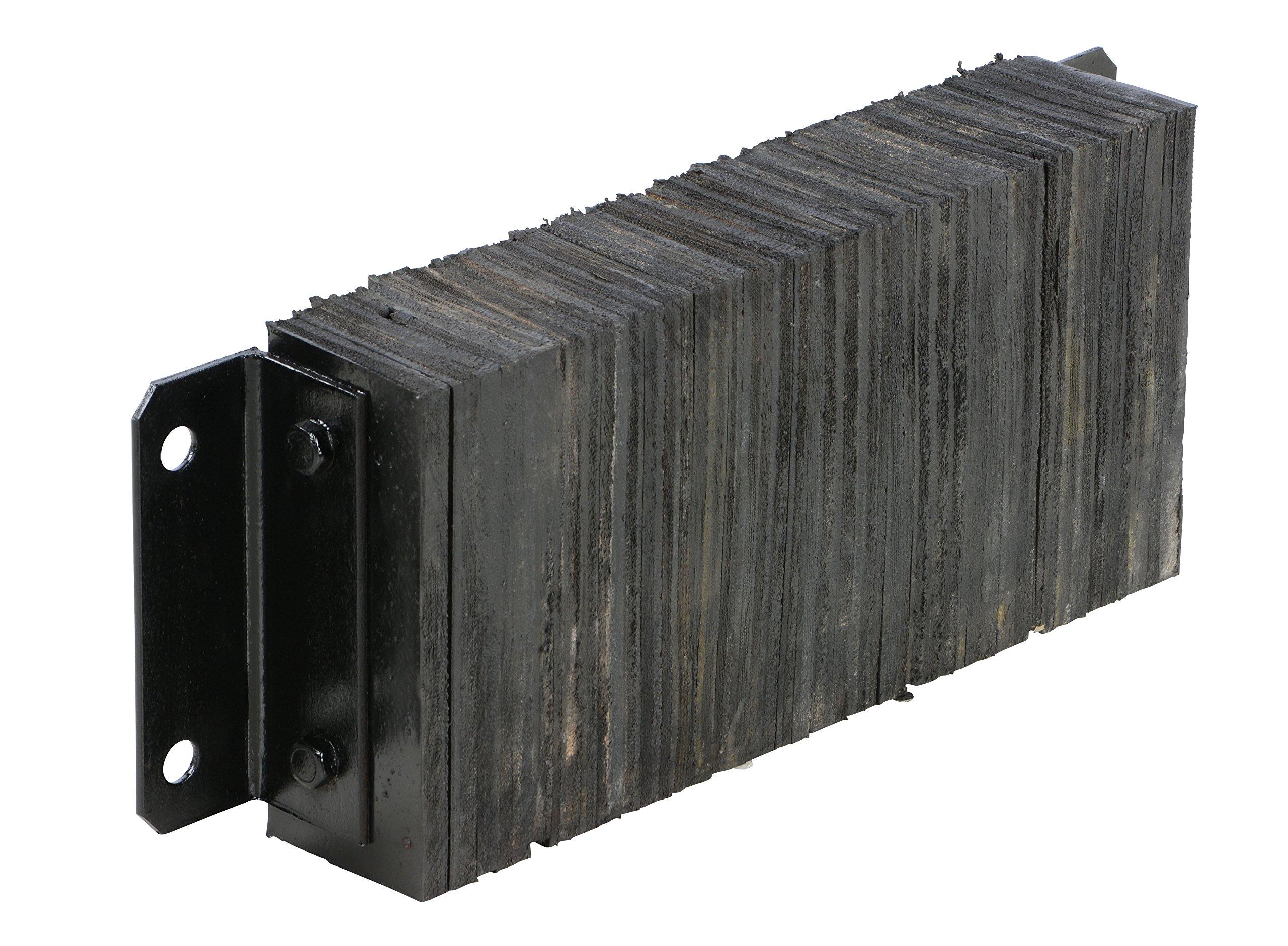 Vestil 1024-4.5 Horizontal Laminated Dock Bumper, Fabric Reinforced Rubber, Rectangular, 4 Holes, 10'' Height, 24'' Width, 4-1/2'' Depth