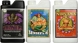 Advanced Nutrients Professional Grower Bundle Tarantula, Nirvana, Sensizym Plant Fertilizer Enhancer pH Balance, 1 L