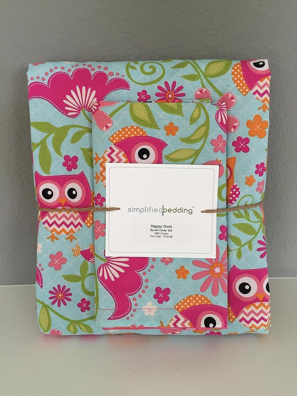 Image of Birds, Owls & Flowers Kids Twin Duvet Cover Set