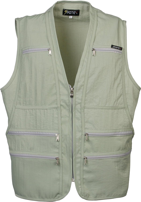 Men's 9 Pockets Work Utility Vest Military Photo Safari Travel Vest Workwear Jacket