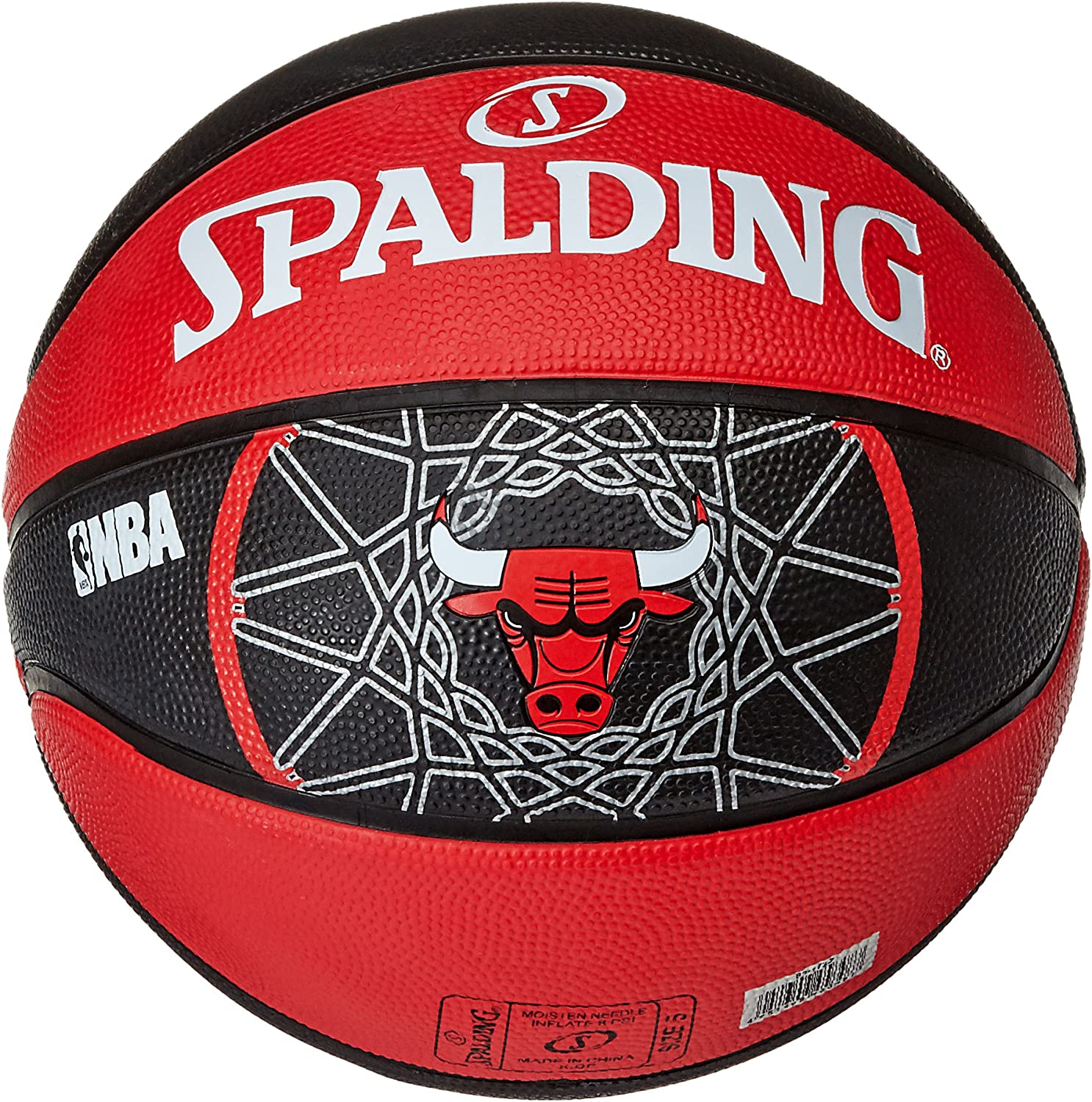 Spalding NBA Team Chicago Bulls Balón de Baloncesto, Unisex Adulto ...