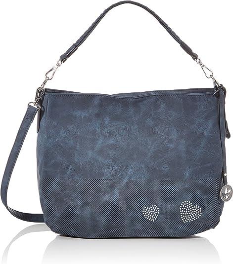 Rieker Handtasche, Bolsa de noche para Mujer, azul, 280x140x360 centimeters (B x H x T)