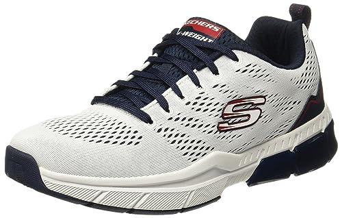 White/Navy Sneakers - 8 UK/India (42 EU