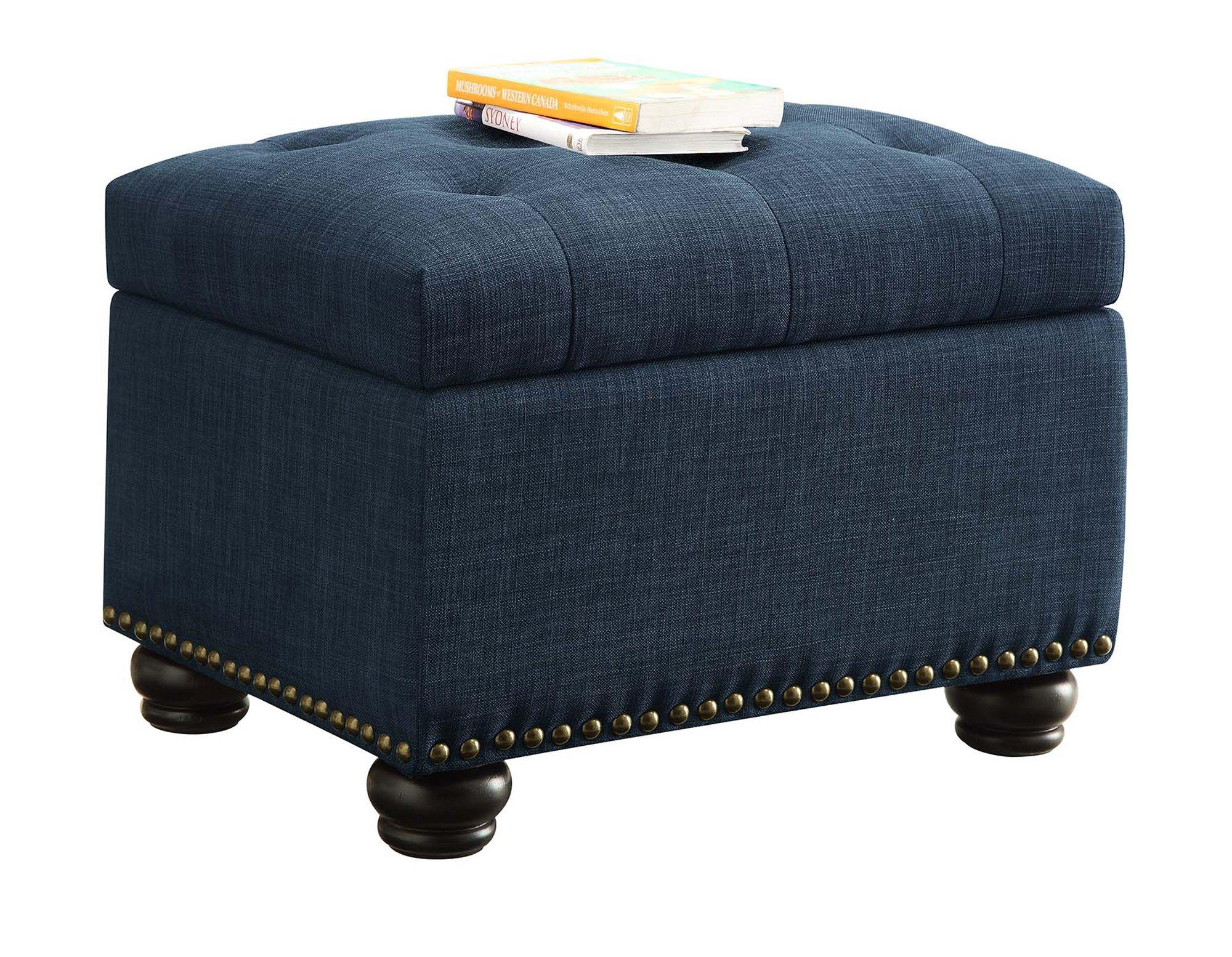 Convenience Concepts Designs4Comfort 5th Avenue Storage Ottoman, Blue by Convenience Concepts (Image #2)