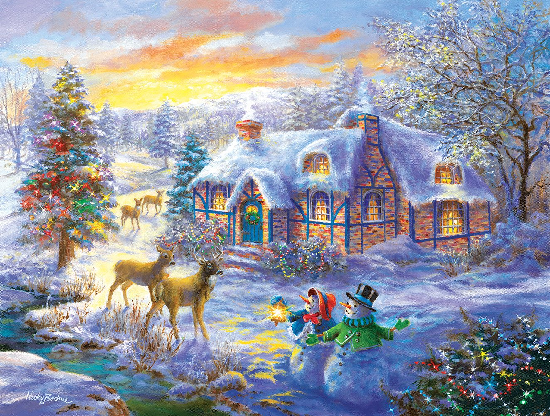 Promoción por tiempo limitado Christmas Home - A 300 Piece Jigsaw Puzzle by SunsOut by SunsOut