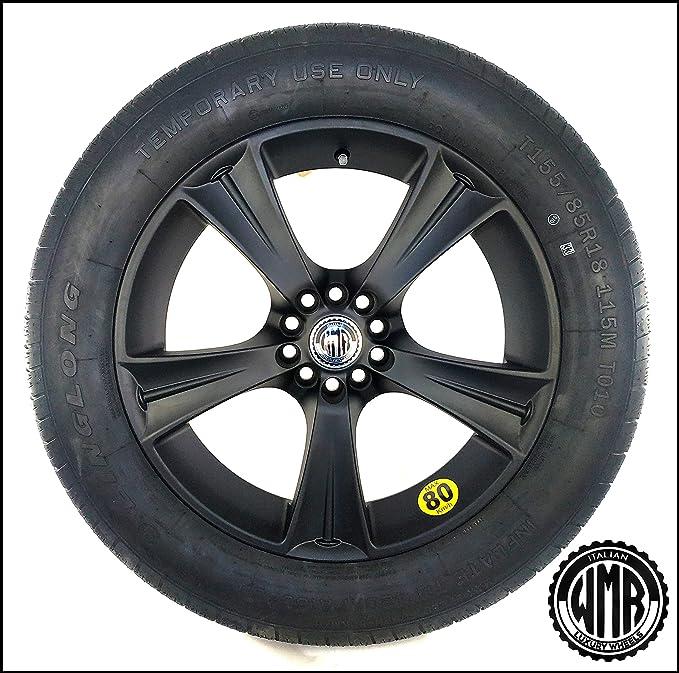 SP15185112155 - Rueda de repuesto de aleación + neumático 155 85 R18 para Audi Q5: Amazon.es: Coche y moto