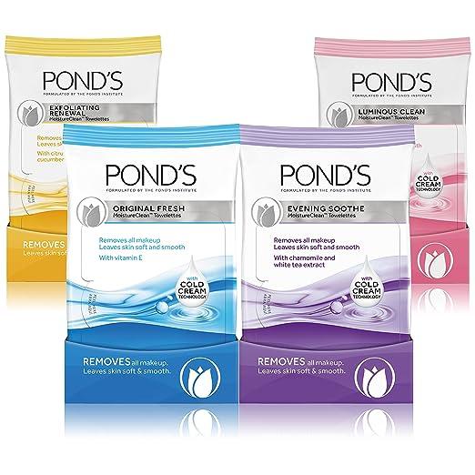 Amazon.com: Ponds Makeup Remover Wipes, Original Fresh, 28 ...