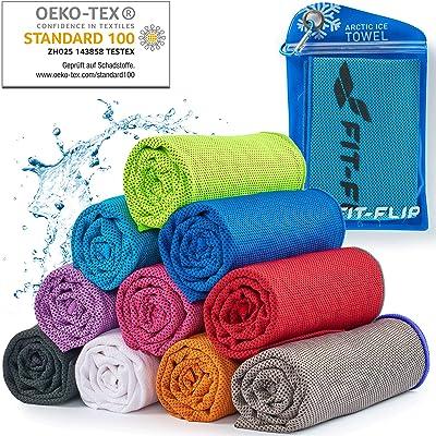 Fit-Flip Cooling Towel para Deporte y Gimnasio – Toallas de Microfibra/Toalla fría como Toalla refrigeración para Correr, montañismo Viajar y Yoga – Cooling Towel