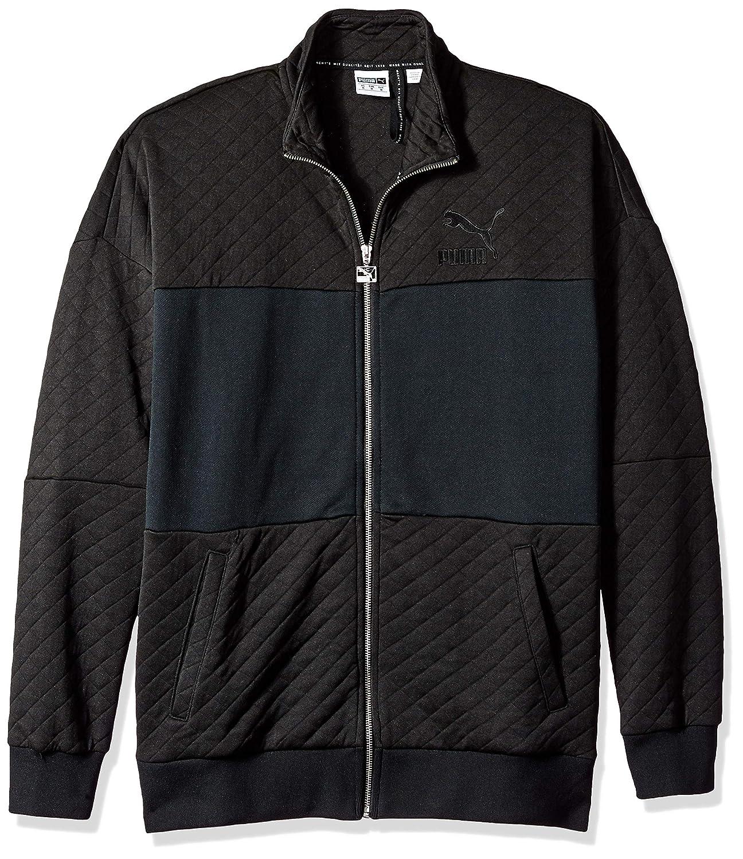 Puma Black XXX-Large PUMA Mens Retro Quilted Jacket Sweatshirts