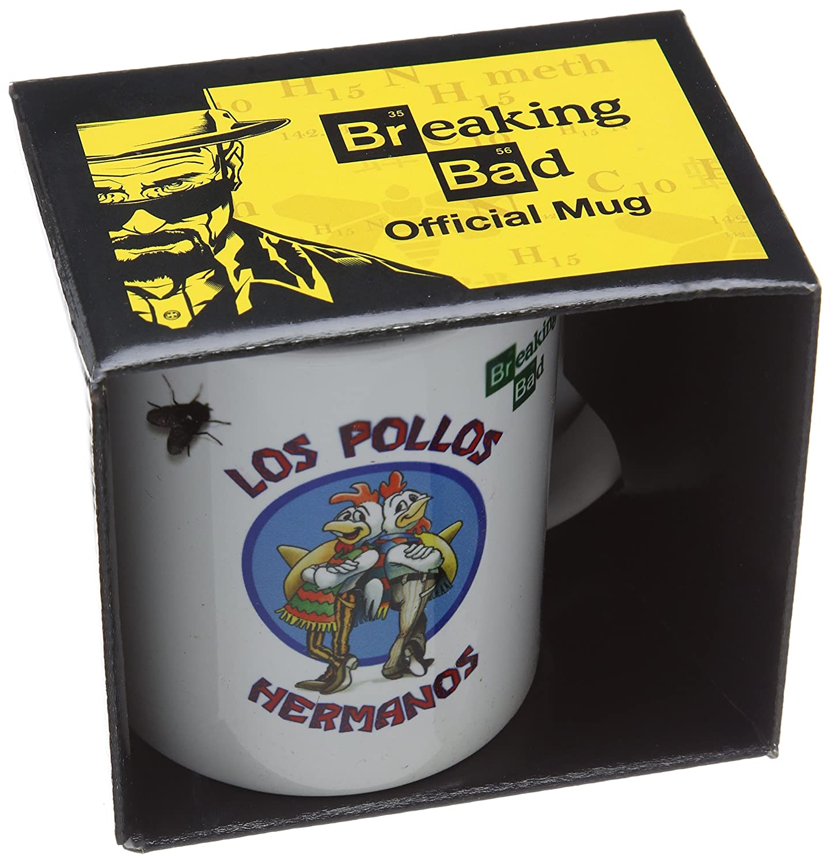 Breaking Bad Pyramid International (Los Pollos Hermanos) Official Boxed Ceramic Coffee/Tea Mug, Multi-Colour, 11 oz/315 ml MG22468