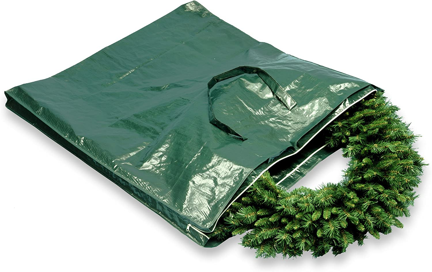 National Tree Heavy Duty Wreath and Garland Storage Bag with Handles and Zipper, Fits up to 4 Foot (S-A-WBAG1)