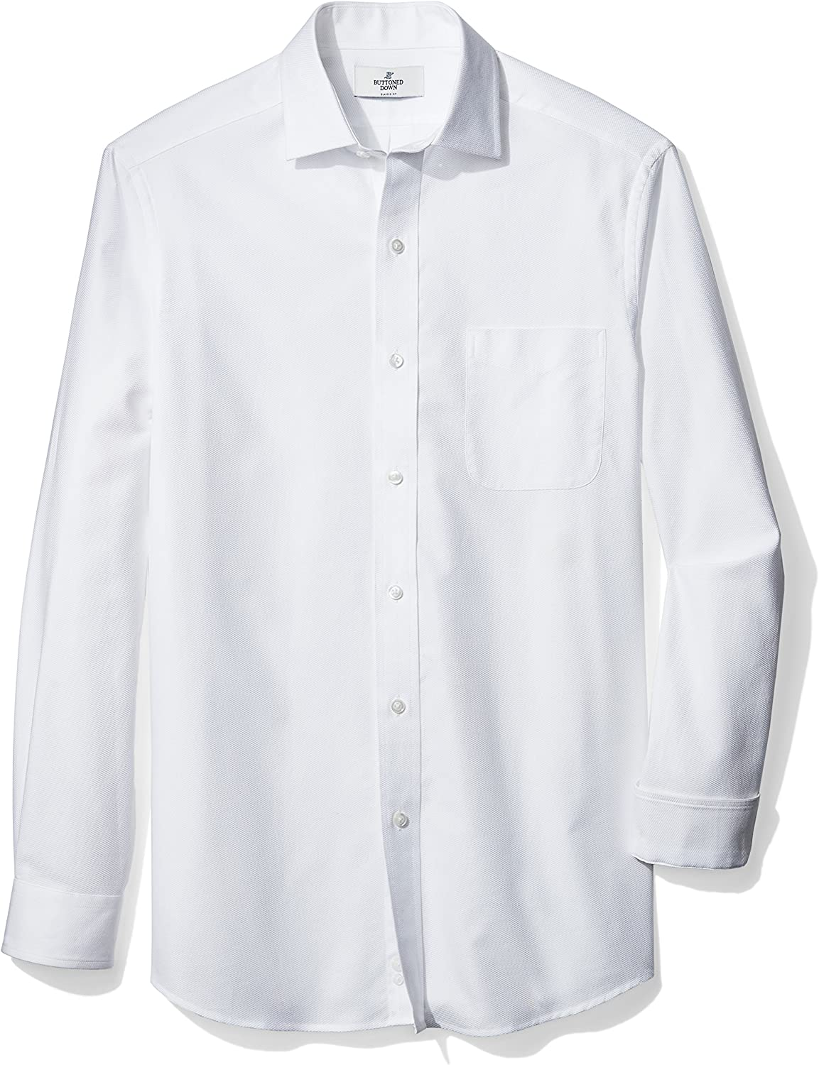 BUTTONED DOWN Men's Classic Fit Spread-Collar Supima Cotton Dress Casual Shirt: Clothing