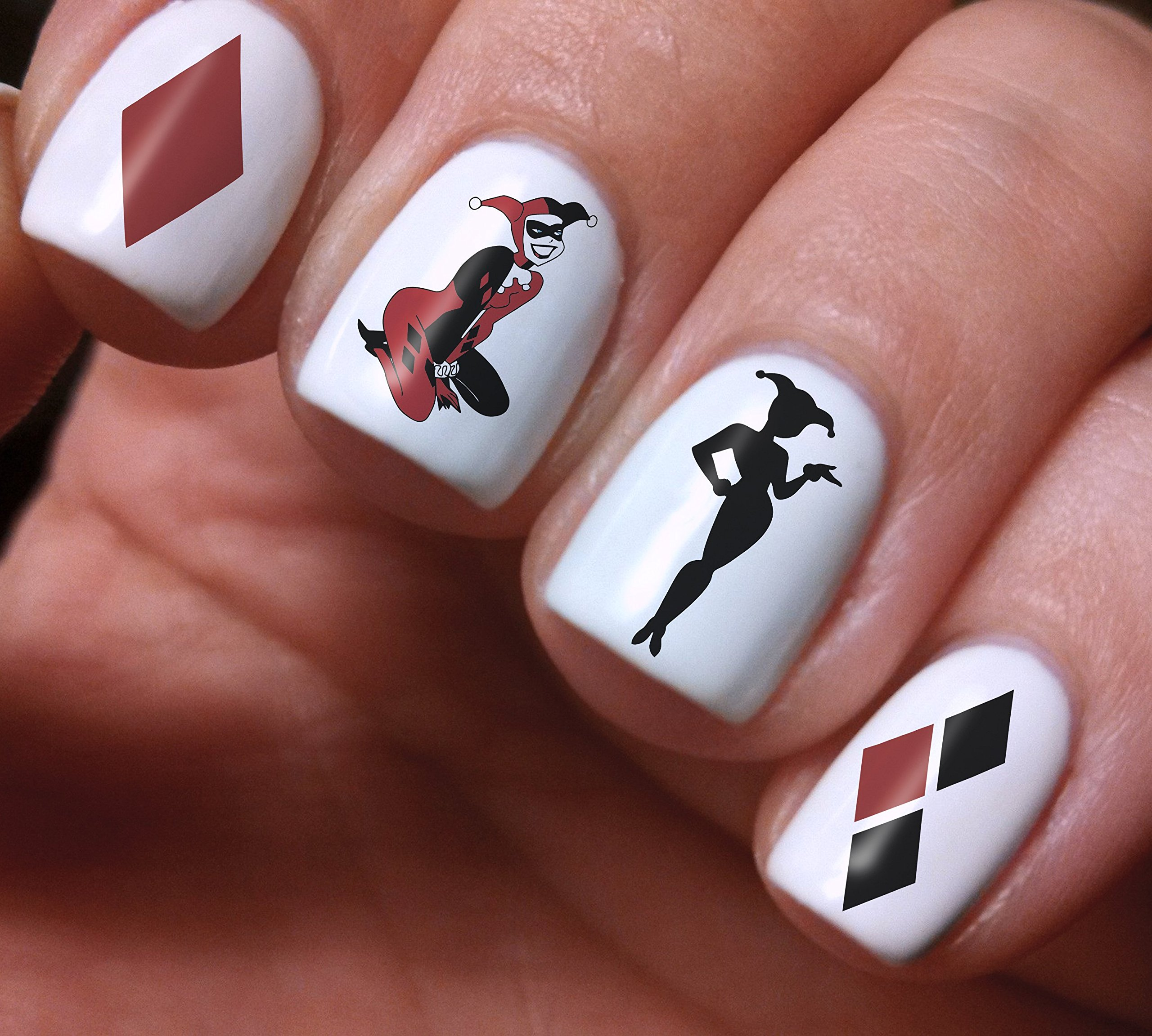 Amazon.com: Harley Quinn nail decals nail set for manicure ...