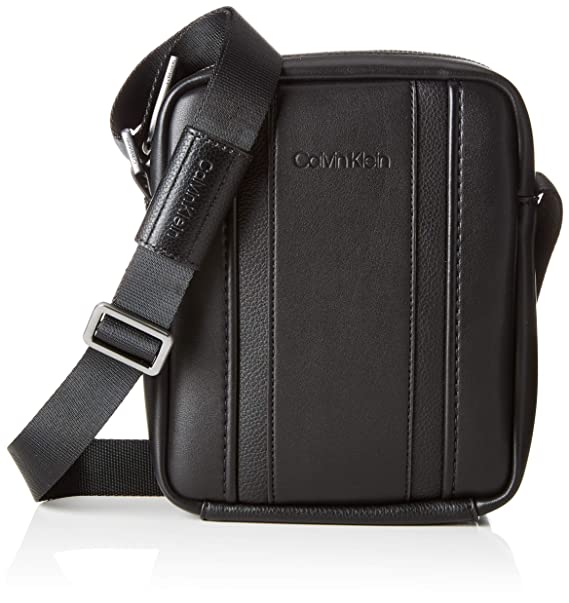 e7fc59a4c2 Calvin Klein Essential 1 G Ipad Mini Reporter, Men's Satchel, Black,  6x17x21 cm