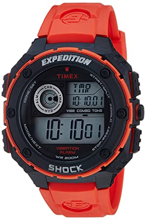 Timex Mens T499849J Expedition Digital Display Quartz Red Watch