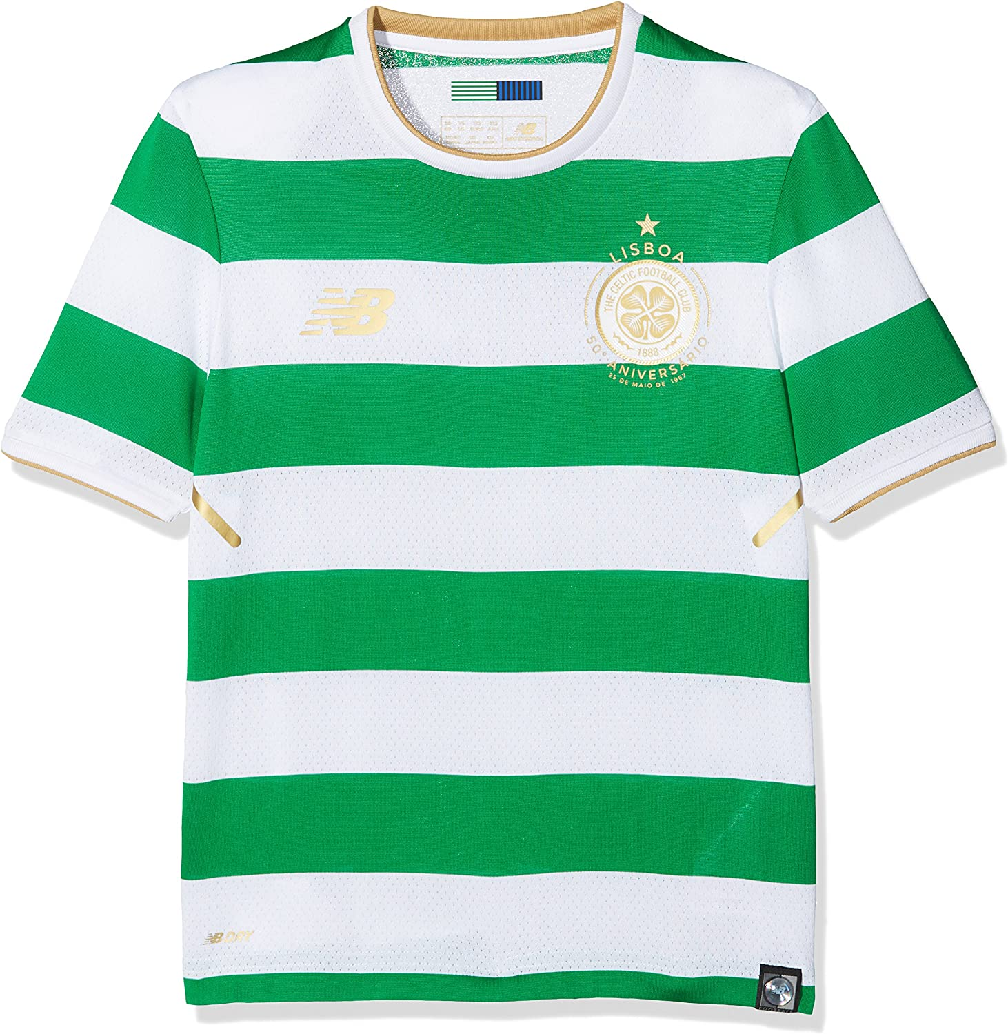 New Balance Celtic FC Home Junior SS Jersey [White]