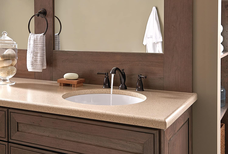 Delta Faucet 3593-MPU-DST Two Handle Widespread Bathroom Faucet ...