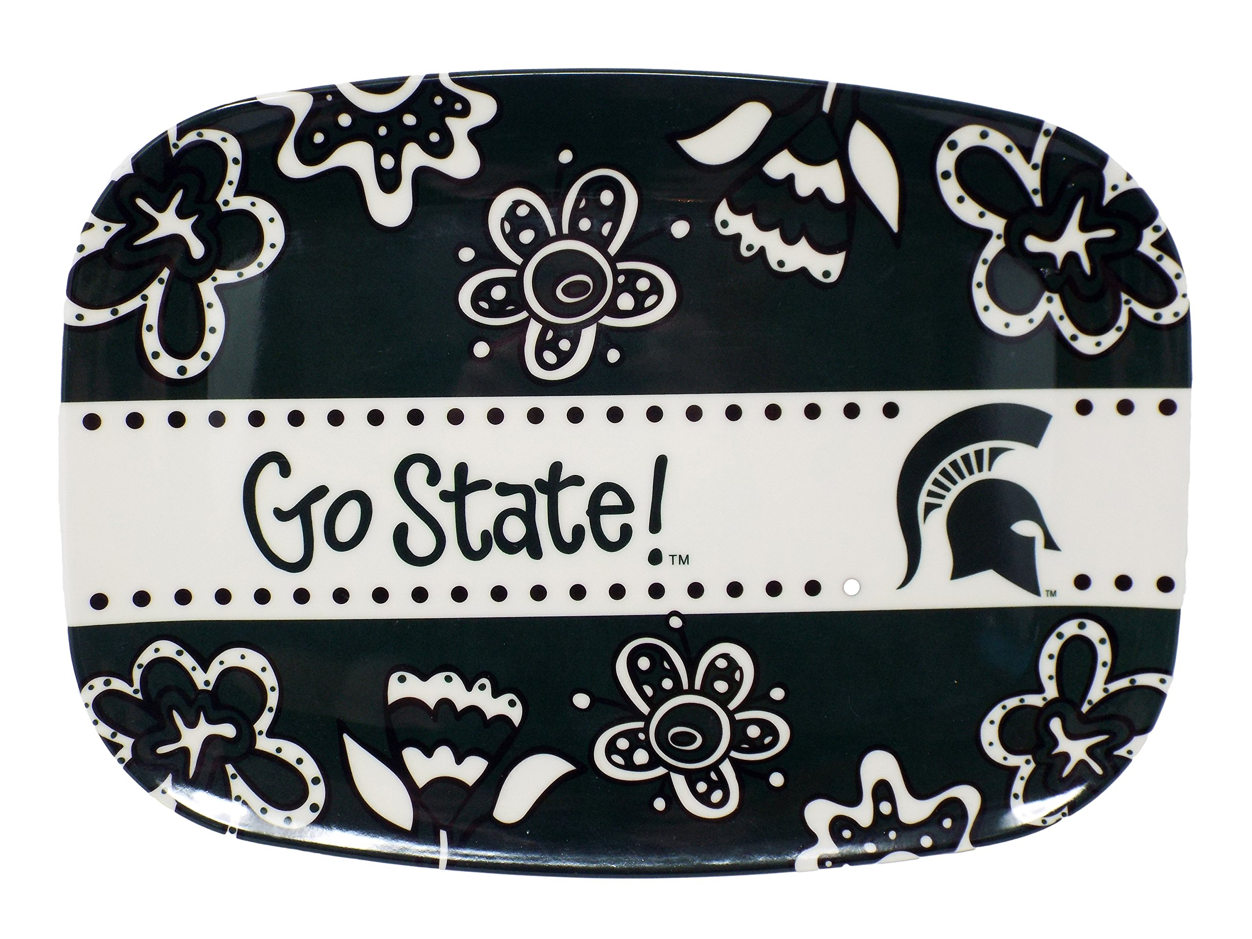 Memory Company NCAA Melamine Serving Platter, 10'' x 14'' (Michigan State Spartans)