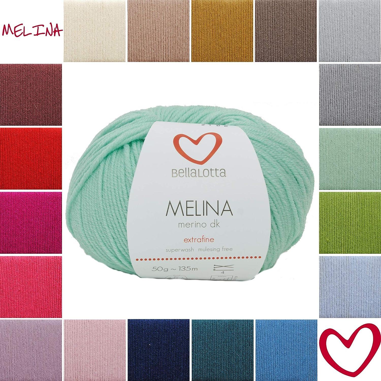 BellaLotta Melina Merino DK Babywolle 135m//50g Taupe