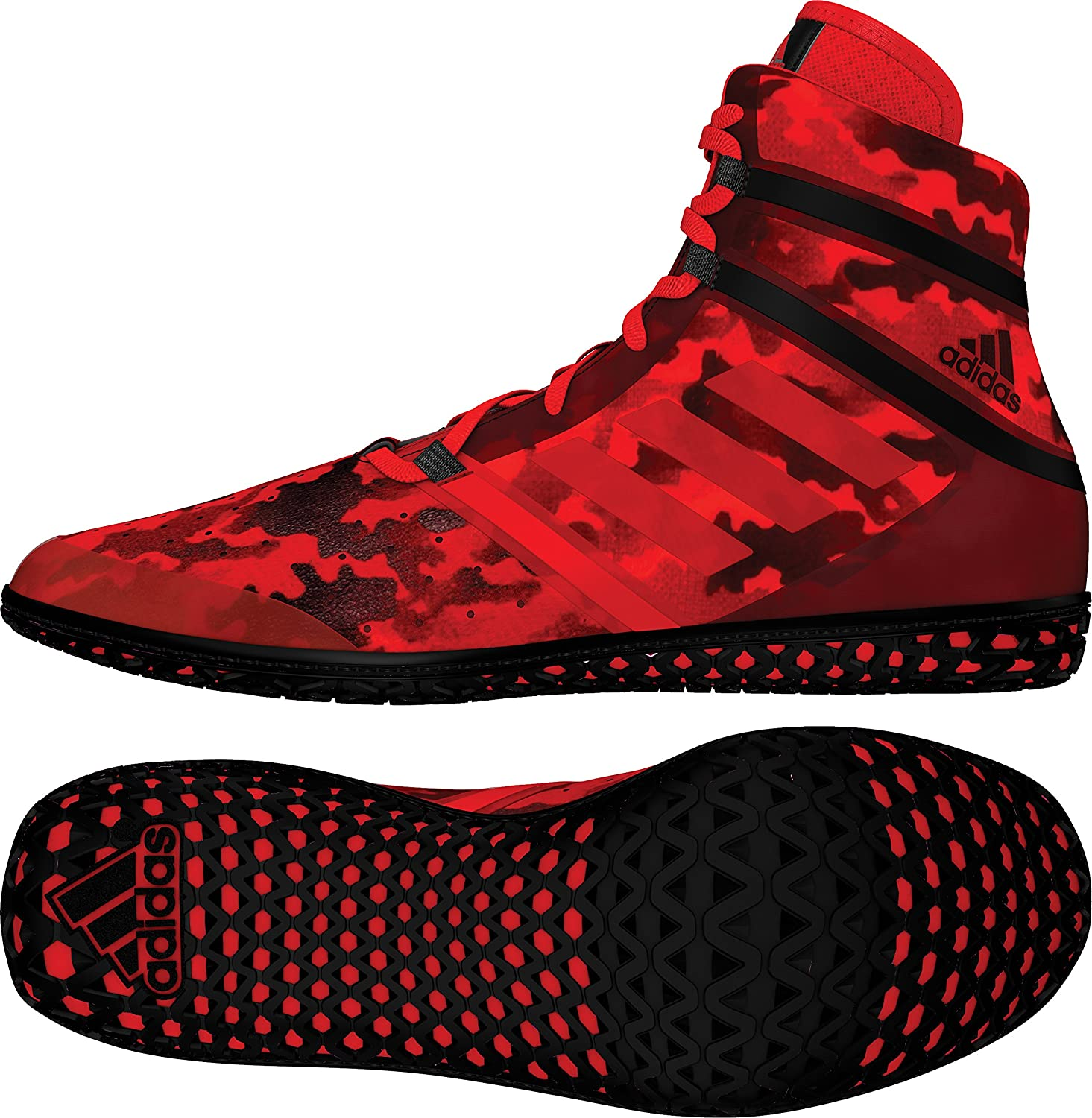 Red Camo Print adidas Impact Mens Wrestling Shoes Size 8