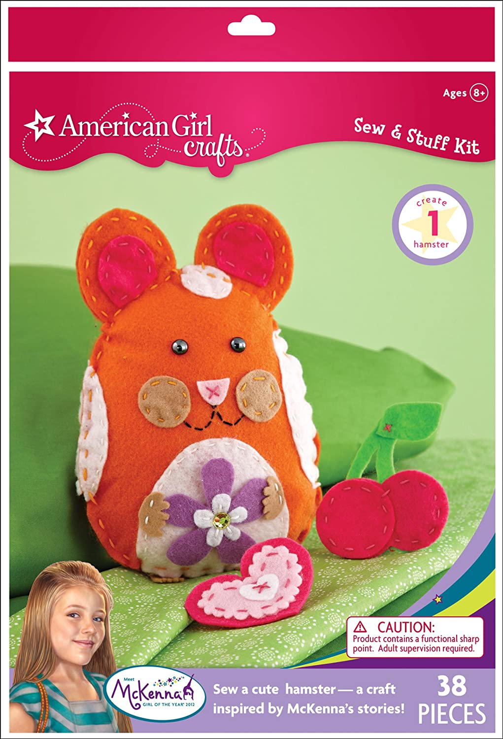 Amazon American Girl Crafts Sew And Stuff Kit McKenna Of The Year 2012 Hamster Toys Games