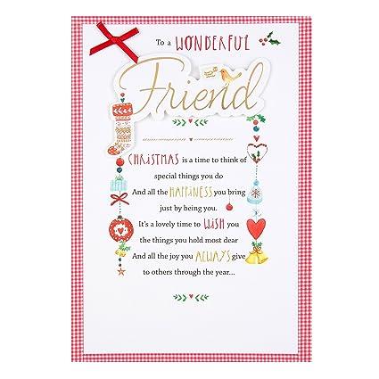 Amazon Com Friend 3d Ribbon Foil Loving Message Hallmark