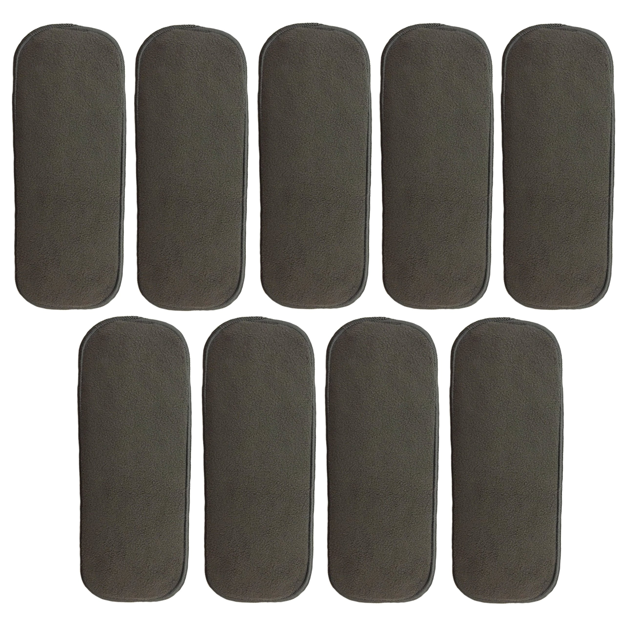 HappyEndings Newborn 5 Layer Charcoal Bamboo Inserts (Pack of 9) by Happy Endings