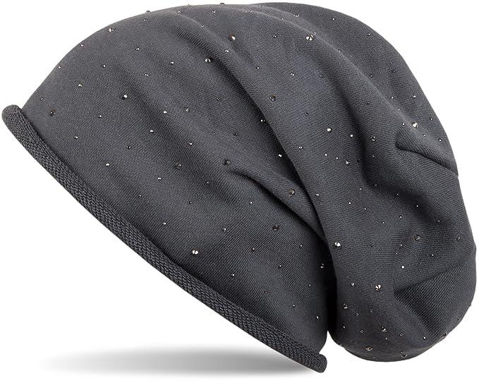 Stylebreaker cuffia beanie classica con applique di strass e