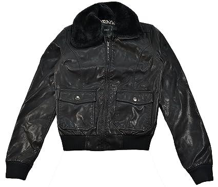 Obey Eastside Black Faux Leather Women's Jacket at Amazon Women's ...