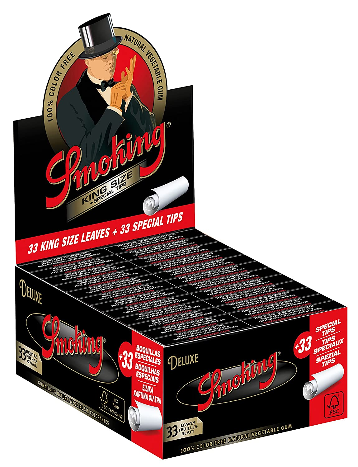 Amazon com: 24 Smoking Brand Deluxe With TIPS Ultra Fine King Size