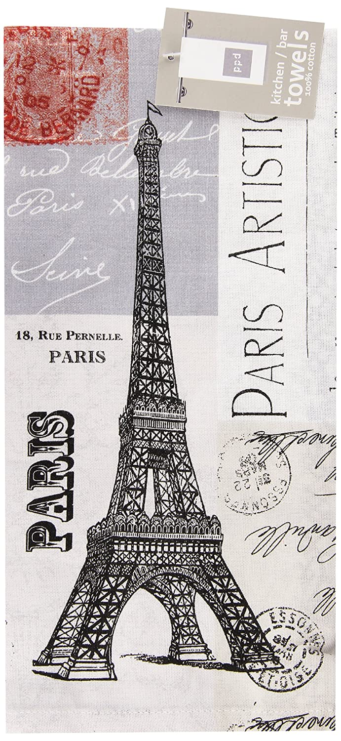 Paperproducts Design 25030 Gift Box Hard Backed Coaster Paris Eiffel Tower,Set of 4