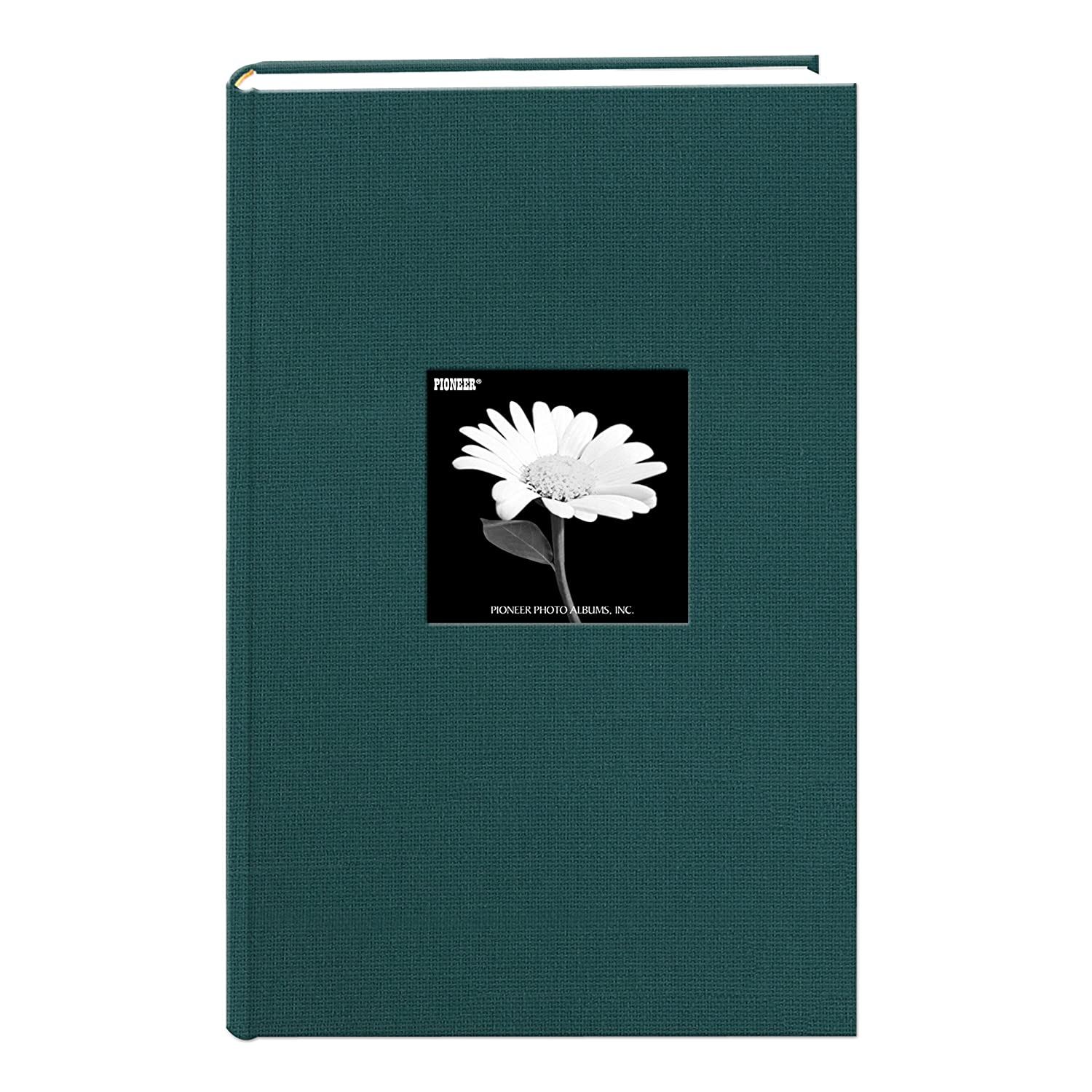 Fabric Frame Cover Photo Album 300 Pockets Hold 4x6 Photos, Majestic Teal Pioneer Photo Albums DA-300CBFNMT