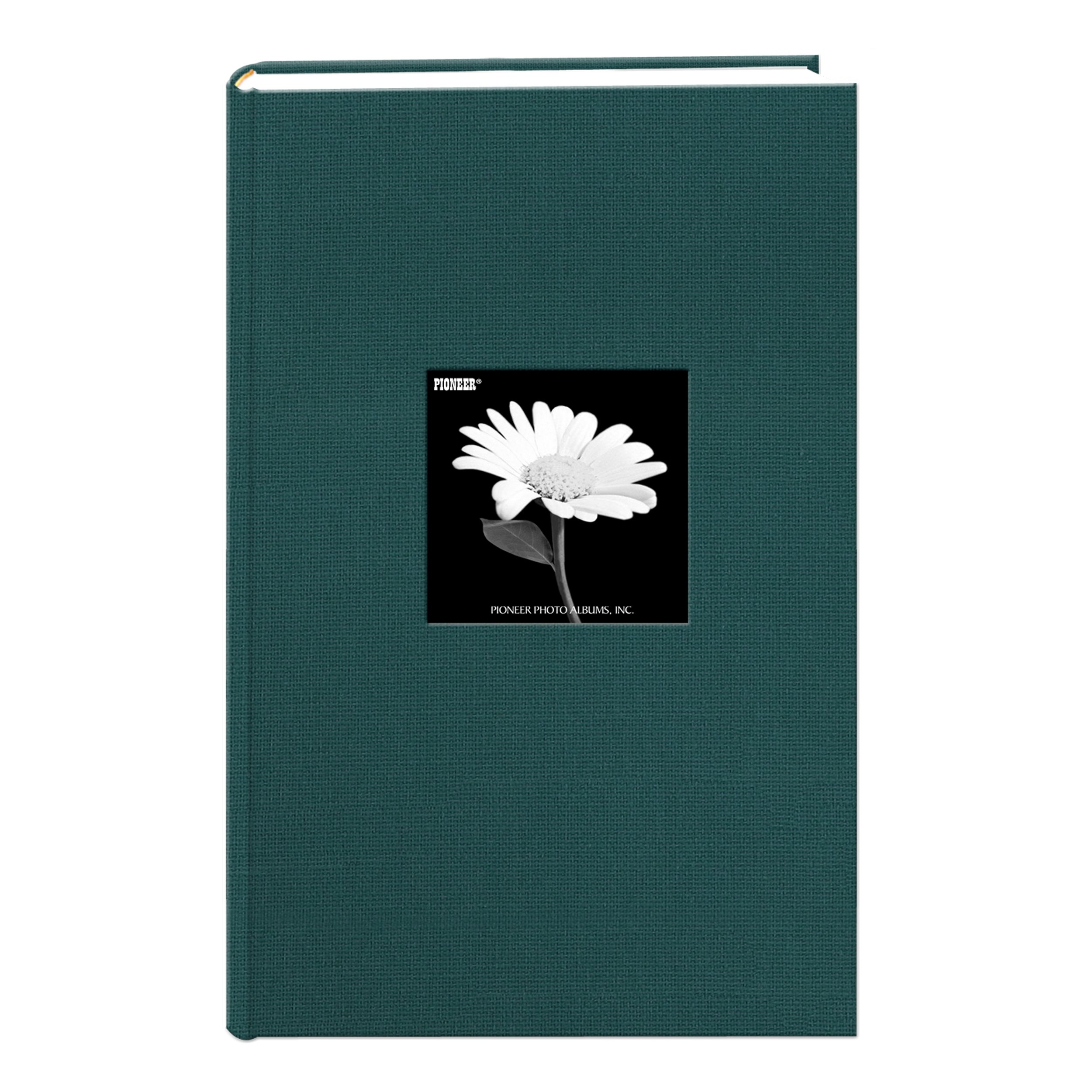 Fabric Frame Cover Photo Album 300 Pockets Hold 4x6 Photos, Majestic Teal by Pioneer Photo Albums