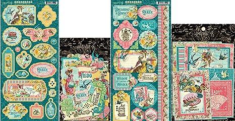 Graphic 45 Woodland Friends Ephemera with Storage Pocket Cardstock Die-cuts 8x8 Paper Pad