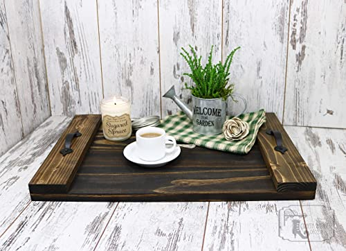 Amazon Com Serving Tray Serving Tray With Handles Rustic