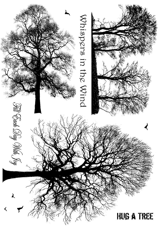 Crafty Personen unmontiert Stempel 12x 7-inch-Winter Bäume Crafty Individuals CI-209