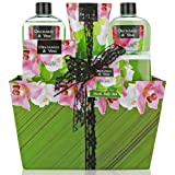 Amazon Price History for:Mother's Day Gift, Bath and Body Gift Set, Aromatherapy Bath Gift Basket for Men/Woman with Natural Orchard & Vine Scent Spa Gift Basket Includes Shower Gel, Bubble Bath, Body Lotion, Bath Salt, Towel