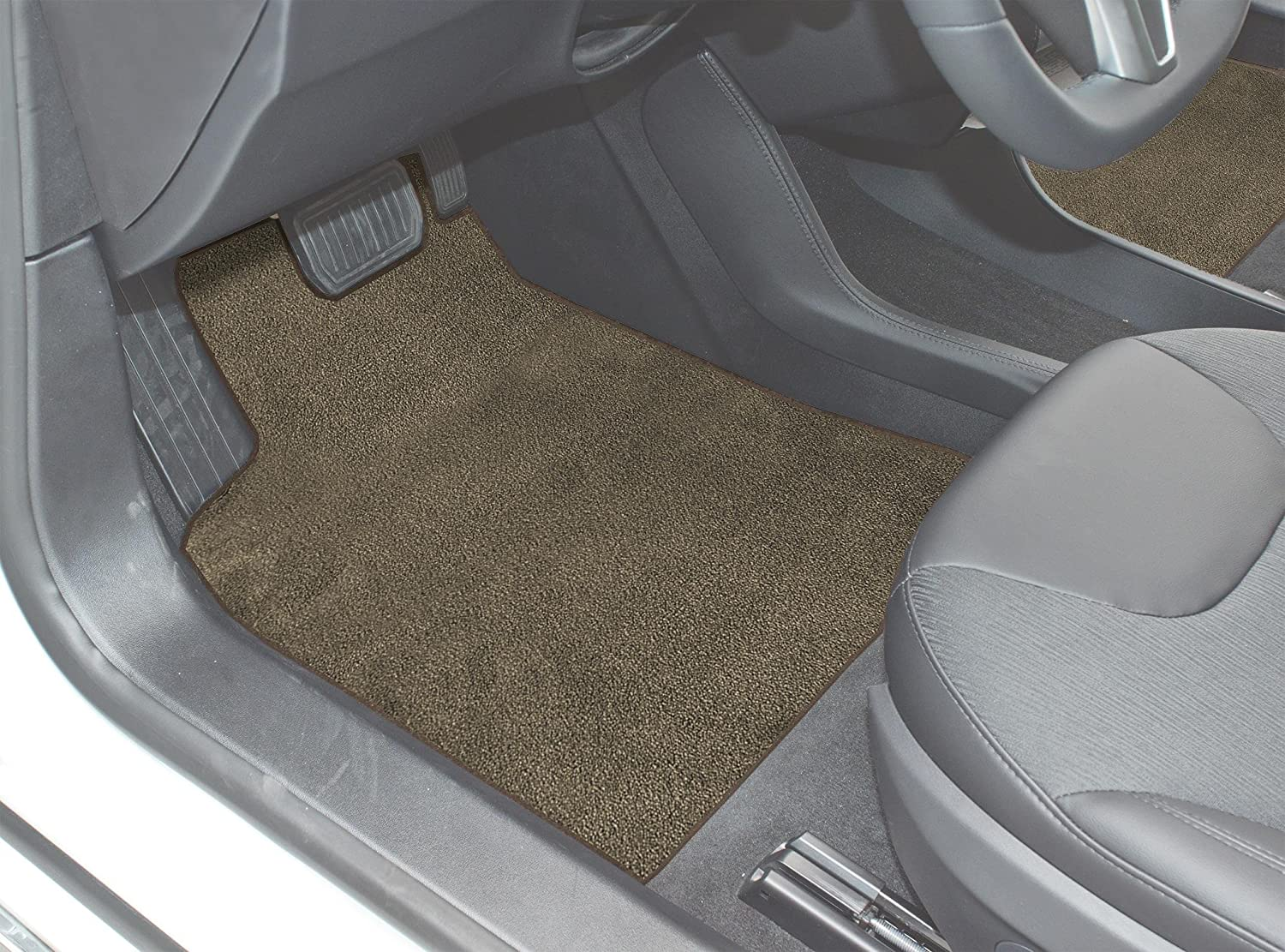 Black Coverking Custom Fit Front Floor Mats for Select Isuzu I-Mark Models Nylon Carpet