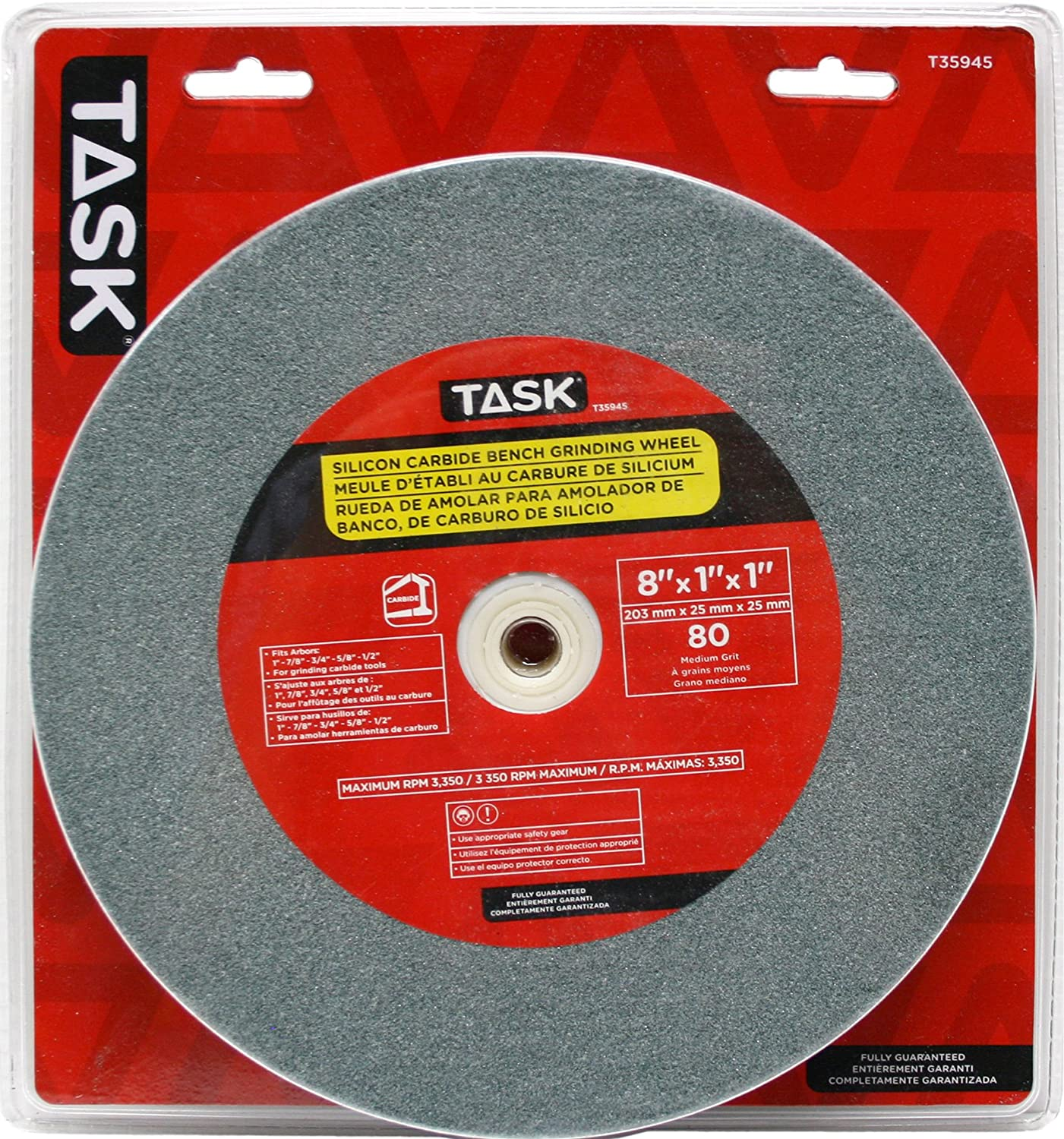 60 Grit Hot Max 26001 6-Inch by 3//4-Inch by 1-Inch Arbor Bench Grinding Wheel