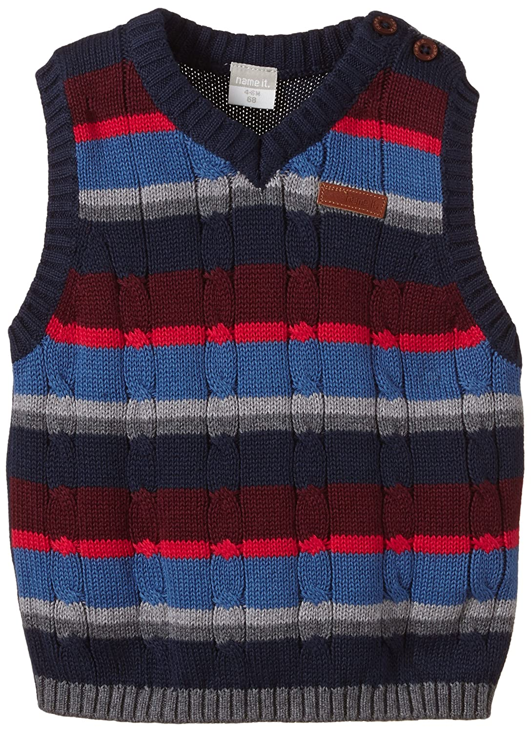 Name It Baby-Jungen Poulsen Nb Cu Knit Vest 614
