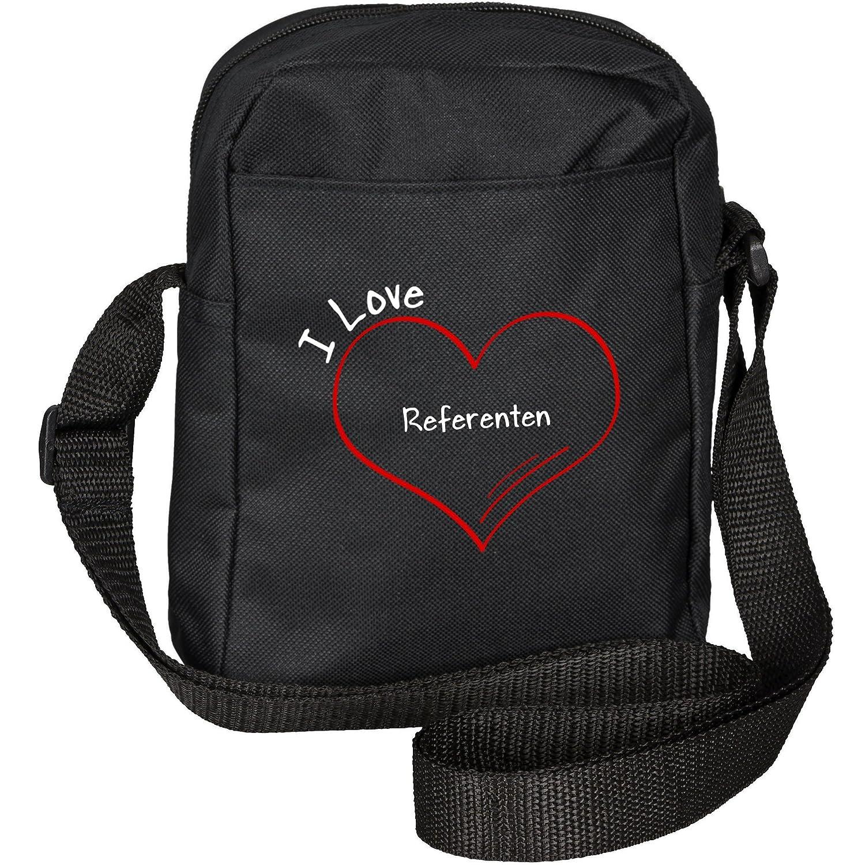 Modern I Love Speaker Black Shoulder Bag