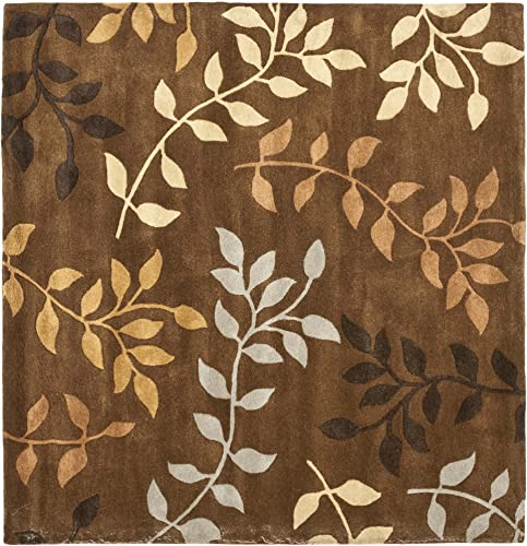 Safavieh Soho Collection SOH833A Handmade Brown and Multi Premium Wool Square Area Rug 6' Square