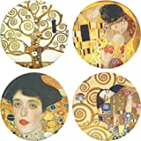 """Buttonsmith Gustav Klimt Art 1.25"""" Magnet Set Featuring The Kiss and Tree of Life (The Kiss 1.25"""") - Made in the USA"""
