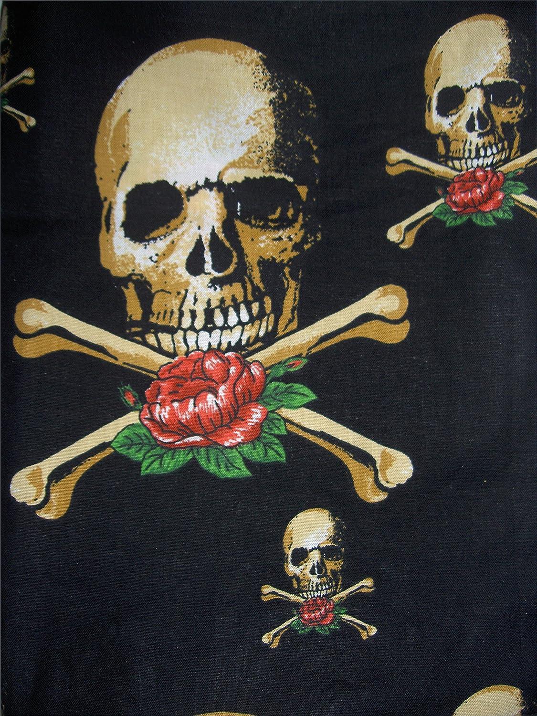 Totenkopf Biker Loop Schal Skull 100/% Baumwolle Handarbeit HH-NN-1968