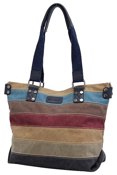 9a5dc6ce6 Max Mon Bolso vaquero de mujer de rayas multicolores bolso de hombro Bolsos  bandolera bolsa de