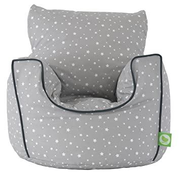 Cotton Grey Stars Bean Bag Arm Chair with Beans Toddler Size From Bean Lazy  sc 1 st  Amazon UK & Cotton Grey Stars Bean Bag Arm Chair with Beans Toddler Size From ...