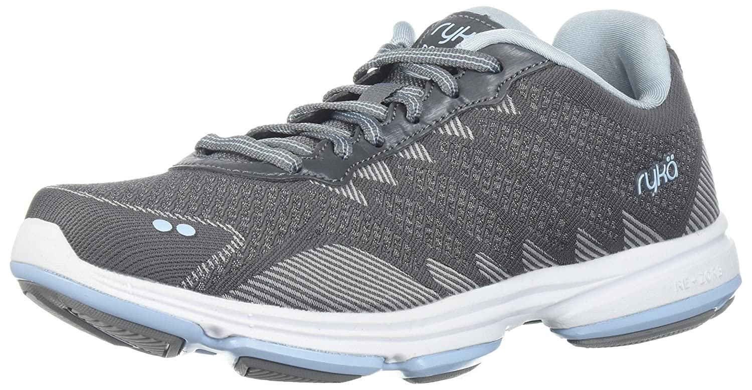 Ryka Women's Dominion Walking Shoe B0757NZYW9 7.5 B(M) US|Frost Grey/Soft Blue/Chrome Silver